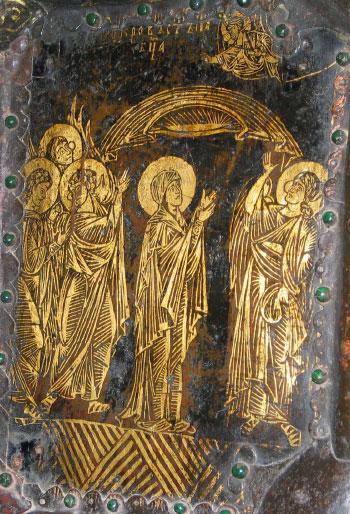 Пластина церковных врат Рождественского собора в Суздале. Начало XVIII в